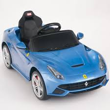 ferrari f12 blue. 12v ferrari f12 kids ride on car with remote, mat and keychain, blue i