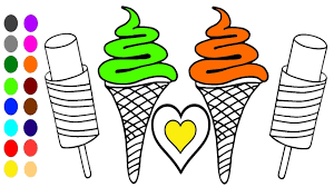 Ce Cream And Heart Coloring Book L Coloring Games Learn Colors