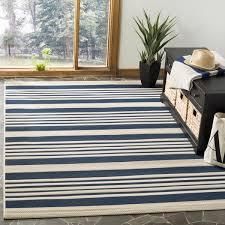 tremendeous indoor outdoor rugs in safavieh courtyard stripe navy beige rug 5 3 x 7