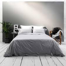 400tc luxury silver grey white bedding set