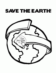Coloring Pages Earth Dayg Pages Kindergarten Splendi Save The