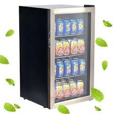 soda cooler can beverage refrigerator beer wine drink mini fridge glass door vintage for antique e