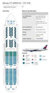 delta airlines boeing 777 200 seating map delta 777 200er