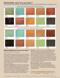 Brickform Acid Stain Color Chart Pin On Concrete Stain Colors