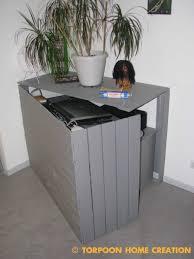 pallet furniture desk. Pallet Hidden Desk Pallet Furniture Desk