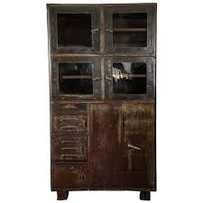 industrial storage cabinet with doors. Vintage Industrial Metal Storage Cabinet For Sale With Doors U