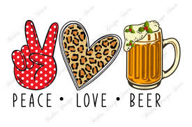 Glass and mug of beer. 0 Peace Love Beer Png File Designs Graphics