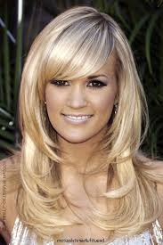 Long Layered With Side Swept Bangs Long Layered Haircuts Side