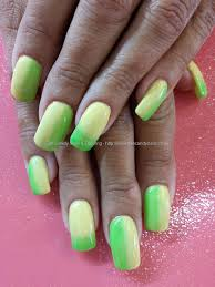 Eye Candy Nails & Training - Yellow and green gel fade polish over ...