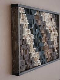 Large Reclaimed Wood Wall Art, Wood Wall Decor, Headboard, Geometric  Pattern, Wood Mosaic, Geometric Art, 17x30