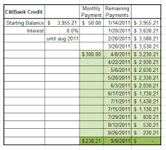 4 Credit Card Payoff Spreadsheets Word Excel Templates