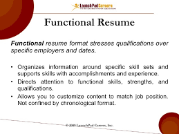 Functional Or Chronological Resume New Examples Of Chronological