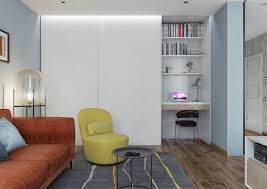 OneBedroom Homes With Sharp Geometric Decor - Modern retro bedroom