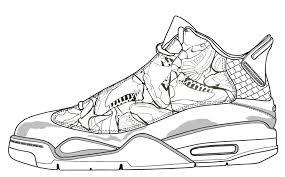 Jordan Sneakers Coloring Pages Color Bros