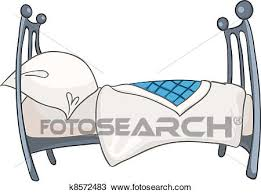 Clipart of Cartoon Home Furniture Bed k8572483 Search Clip Art