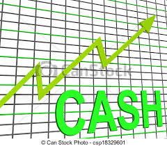 Chart Showing Increase Cash Chart Graph Shows Increase Wealth Money Currency