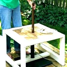 patio umbrella stand side table tables outdoor canada