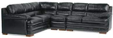 black leather sofa with nailhead trim sectional 0