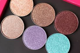 makeup geek foiled eyeshadows review swatches