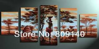 free african lady big size landscape oil painting canvas high quality handmade home office wall art decor decoration