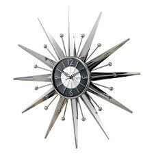 ... Clocks, Cool Nelson Wall Clock George Nelson Sunflower Clock Silver  Metal Wall Clock Design Like ...