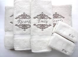 set of 6 personalized bath towels hand towel bathroom personalized gift embroidered towels bathroom wedding gift custom towels