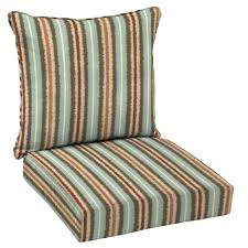 elaine ikat stripe welted 2 piece deep seating outdoor lounge chair cushion