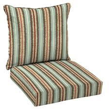 hampton bay 24 x 24 outdoor lounge chair cushion in standard elaine ikat stripe