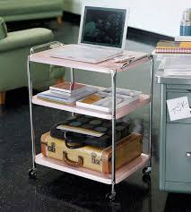 rolling office cart. Home Office Organization: 30 Simple Tips \u0026 Tricks A Rolling Cart Makes Great Portable Office. You Can Store Necessary Items On The Lower Shelves. O