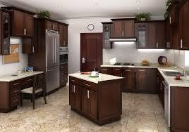 Pre Assembled Kitchen Cabinets Cognac Shaker Rta Cabinets Mocha Colored Cabinet Mania