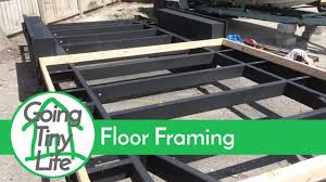 Small Picture Tiny House Build Floor Framing Trailer Prep YouTube