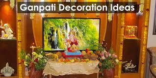 ganpati decoration makhar ideas utsavi