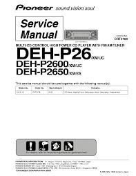 pioneer deh p2600 wiring diagram pioneer diy wiring diagrams pioneer deh p2600 wiring diagram