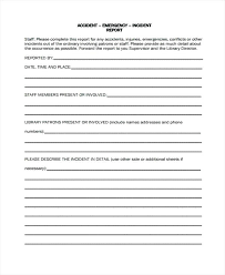 Medical Emergency Incident Report Form Healthcare Office Patient