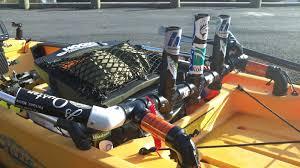 rod holders for kayak the hobie life diy pvc