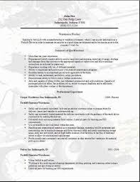 Warehouse Resume Examples Delectable 6060 resume examples for warehouse position lascazuelasphilly