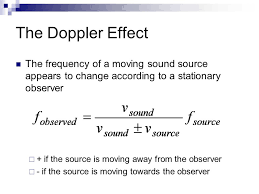 the doppler effect if the source is moving away from the observer 4 the