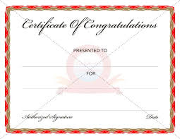 Congratulations Certificates Templates Congratulation Certificate Templates Free Printable