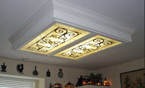 Image Remodel Cover Up Ugly Lighting Fluorescent Light Cover Pinterest Cover Up Ugly Lighting Fluorescent Light Cover Diy Projects In