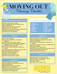 cleaning checklist moving out cleaning checklist talk property management