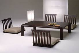 furniture accessories asian style dining room design with japanese furniture rectangular chocolate brown wood dining