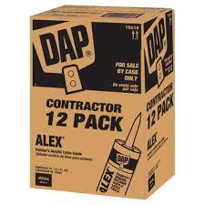 DAP 10 1 oz Alex Painter s All Purpose Acrylic Latex Caulk 12