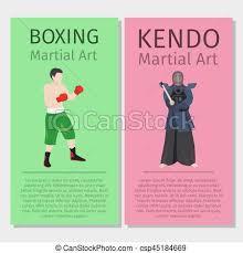 Asian Martial Arts Boxing And Kendo