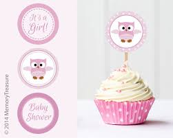 Owl Baby Shower Cupcake Toppers Printable Baby Shower Cup CakeBaby Shower Owl Cake Toppers