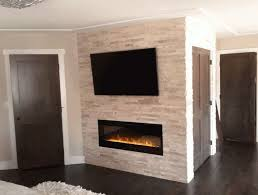 gas fireplace stone surround home design ideas intended for idea 12