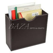 Faux Leather Magazine Holder Cool Fancy Design Leather Magazine Holders Caddy File Documents Racks