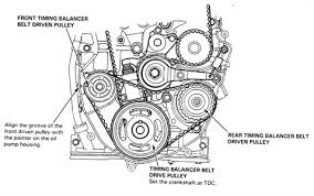 When does the timing belt need to be replaced in addition how to change h23a vtec blue top timing belt     Honda Tech moreover  furthermore  in addition  likewise Honda Accord Timing Belt Replacement Cost Estimate as well Honda Accord VTEC timing belt and water pump Honda Accord VTEC additionally  likewise I need a picture showing the timing marks on a 1992 honda Accord likewise  also . on honda accord timing belt repment