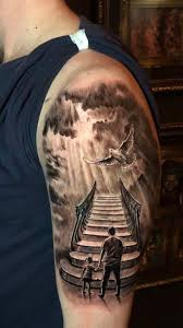 The norse people were a large group of people that populated the scandinavian countries of sweden, norway and tattoo is a fair description. Stair To Heaven Tattoo By Stefan Limited Availability At Newtestamenttattoo Stu Heaven Tattoos Sky Tattoos Stairs To Heaven Tattoo