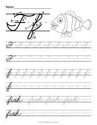 Lowercase Cursive Alphabet Worksheet Lowercase F In Cursive Free Printable Cursive F Worksheet Lowercase