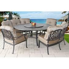 round outdoor dining sets. Heritage Outdoor Living B00QKXKYTS Patio 8 Person Dining Set 71\ Round Outdoor Dining Sets